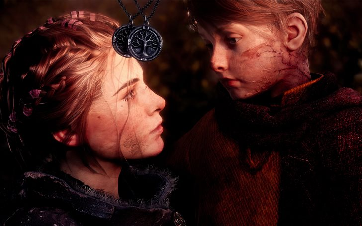 Los hermanos Amicia y Hugo de Rune