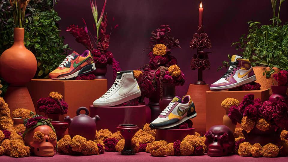 Nike lanza su nueva colección de tenis inspirada en el Día de muertos