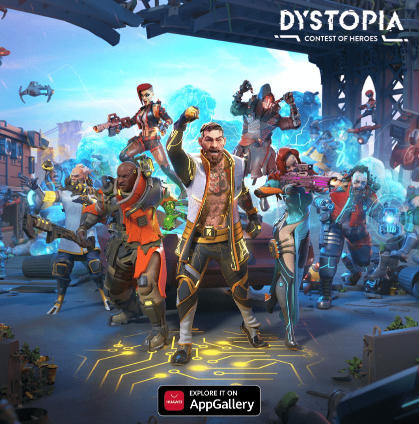 Dystopia: Torneo de héroes está disponible en AppGallery