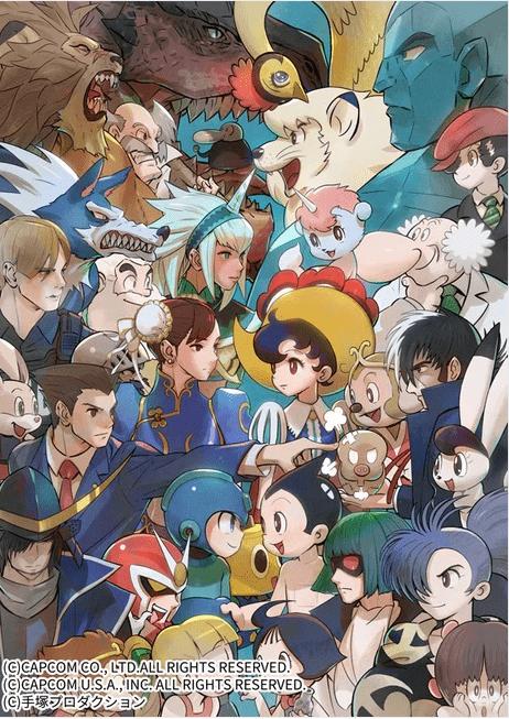 Art Book de Capcom vs. Osamu Tezuka