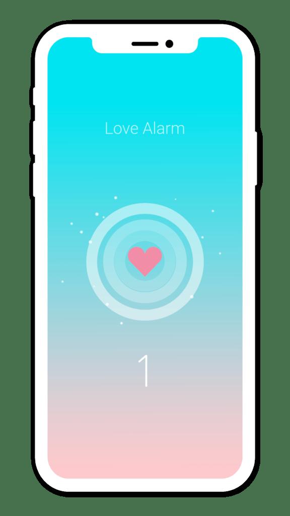 Aplicación Love Alarm