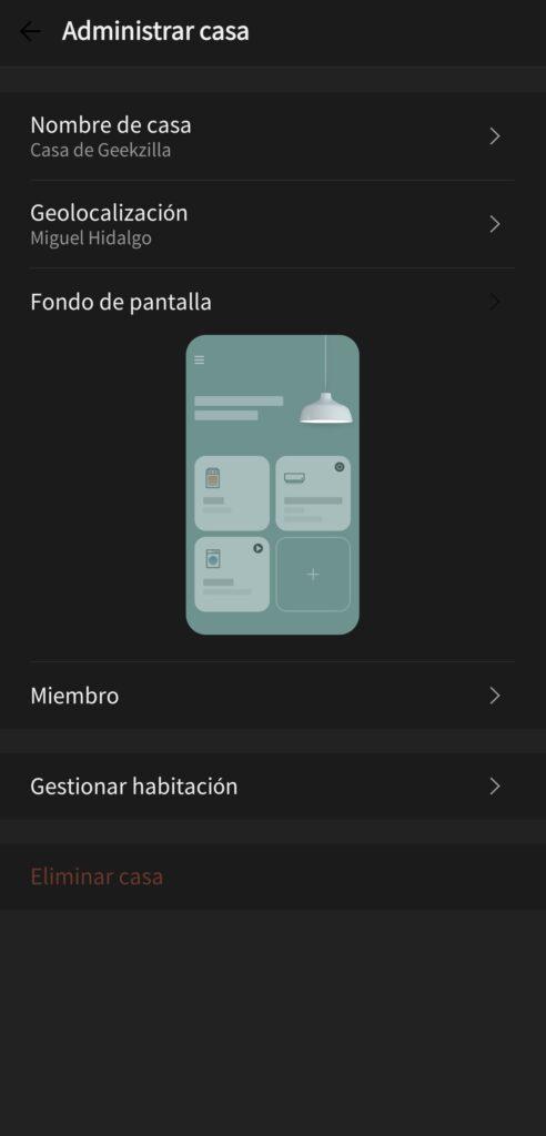 Personalización app LG ThinQ