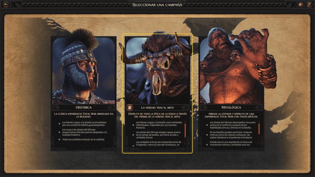 Troy Total War Saga: Campañas